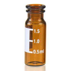 2mL Amber vial Flat 11mm w/label