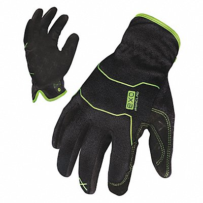 General Utility Mechanics Glove Embossed Synthetic Leather Palm Material Black 2XL PR 1