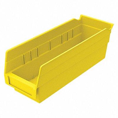 Shelf Bin Yellow 4 H x 11-5/8 L x 4-1/8 W 1EA  |  Box of 24