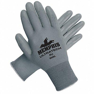 13 Gauge Flat Polyurethane Coated Gloves Glove Size L Gray