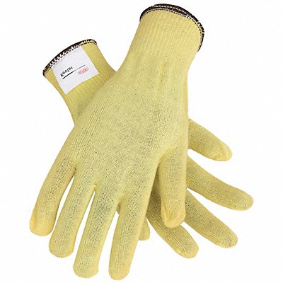 Uncoated Cut Resistant Gloves ANSI/ISEA Cut Level 2 Kevlar? Lining Yellow L PR 1