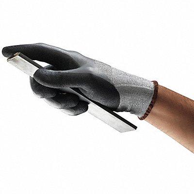 Nitrile Cut Resistant Gloves ANSI/ISEA Cut Level 2 HPPE Lining Black Gray 9 PR 1