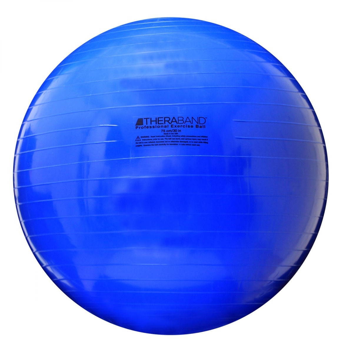 TheraBand Standard Exercise Ball, 75 cm, Blue, Retail Pack