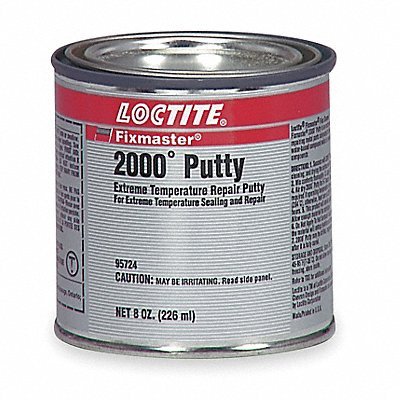 8 oz 2000 Degrees F Putty with Temp Range of Up to 2000 Degrees F Gray