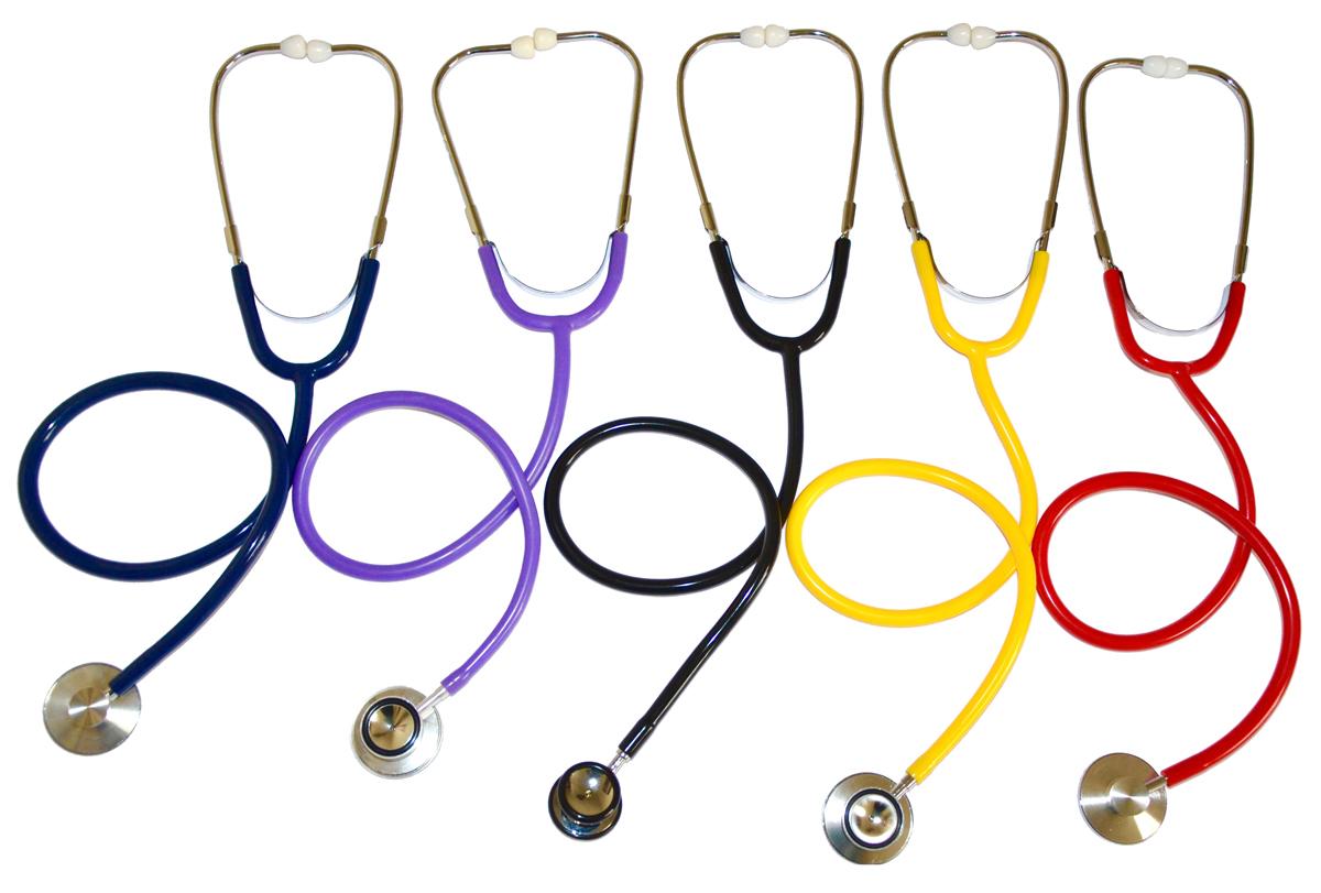 Stethoscope Dual Head Nurse Adult Yellow 100/CS