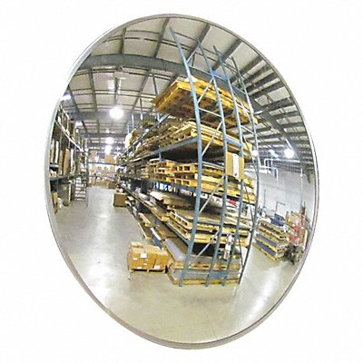 Circular Indoor Convex Mirror 160¬ Viewing Angle 18 ft Approx Viewing Distance