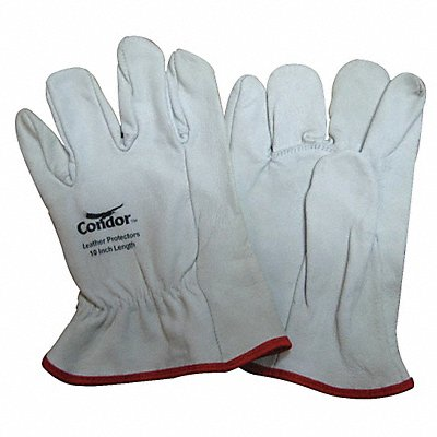 Electrical Glove Protector White Goatskin Leather 10 Length