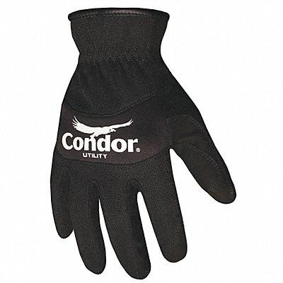 Vend Friendly Mechanics Gloves Synthetic Leather Palm Material Black M PR 1