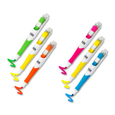 3M Post-it Flags and Highlighter Pens, Chisel, Assorted, Pack of 2