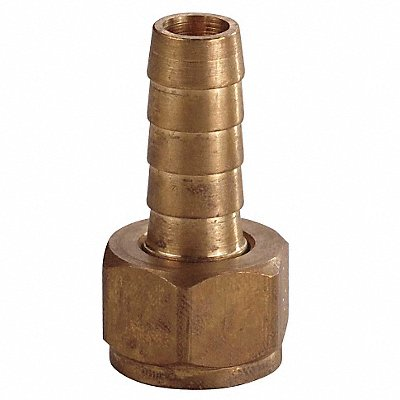 Brass Hose Barb with Straight Fitting Style 1/4 Thread Size