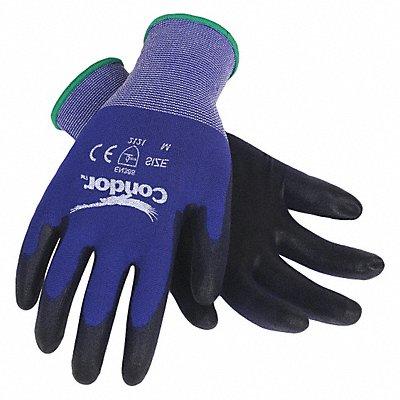 18 Gauge Smooth Polyurethane Coated Gloves Glove Size XL Blue/Black