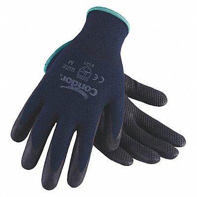 13 Gauge Fish Net Nitrile Coated Gloves Glove Size 2XL Navy Blue/Black