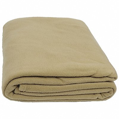 90 x 66 Twin 100 Polyester Fleece Blanket Beige