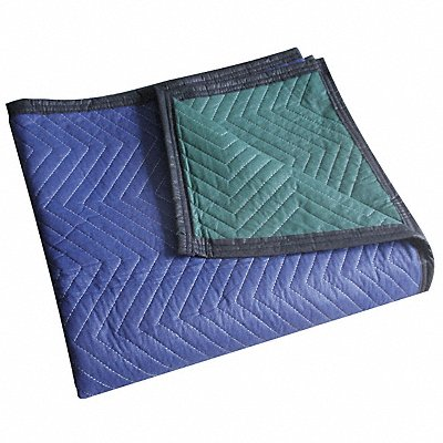 Cotton/Poly Nonwoven Quilted Moving Pad Blue/Green 72 L x 80 W