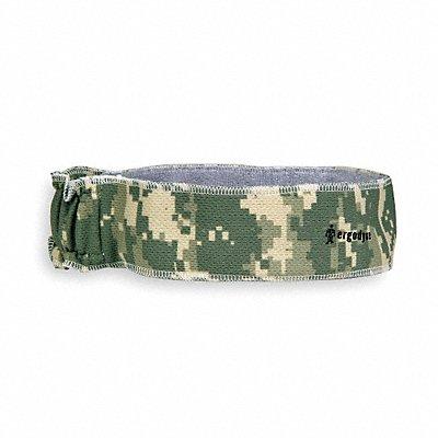 Headband Terrycloth Green Universal 1 EA