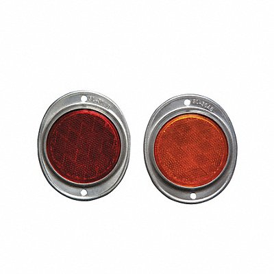 Oval Color Reflector Red 12 L X 11/32 W Acrylic Aluminum