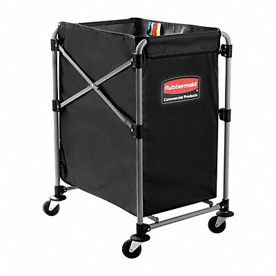 Black Vinyl Collapsible Basket X-Cart 5.0 cu ft. 220 lb. 24 L X 20-1/4 W X 34 H