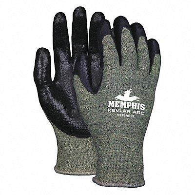 Cut Resistant Gloves ANSI/ISEA Cut Level A4 Lining Black Green L PR 1