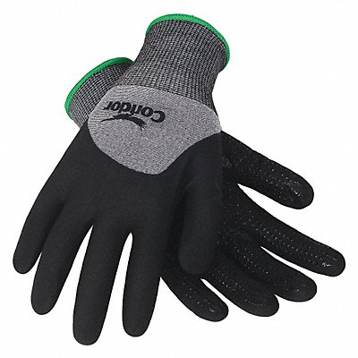 15 Gauge Dotted Nitrile Coated Gloves Glove Size XL Gray/Black