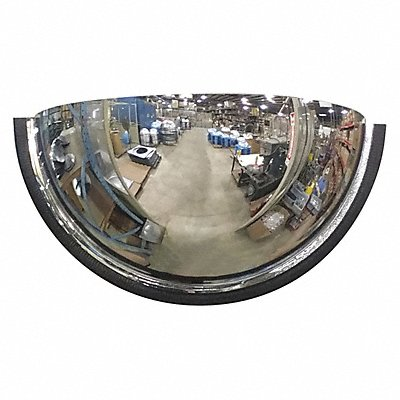 Indoor Acrylic Half Dome Mirror 180¬ Viewing Angle 18 Dia. Wall/Ceiling Mountable