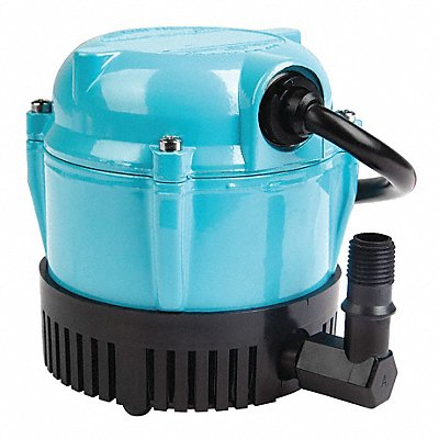 1/200 HP Compact Submersible Pump 115V Voltage Continuous Duty 6 ft Cord Length