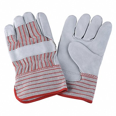 Cowhide Leather Work Gloves Safety Cuff Red Striped Size XL Left and Right Hand