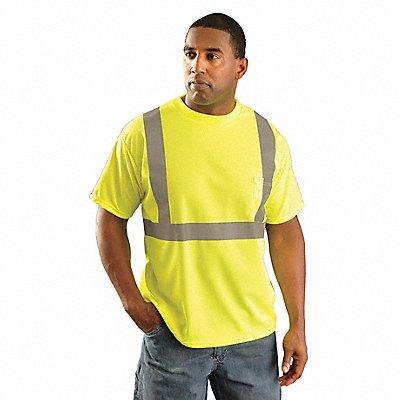 Yellow Wicking Birdseye T-Shirt Size M ANSI Class 2