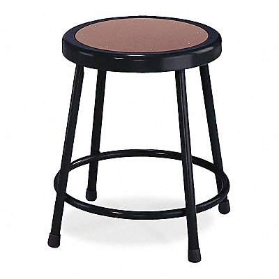 Round Stool with 18 Seat Height Range and 300 lb Weight Capacity Black