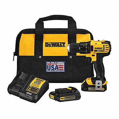 20V MAX Compact Li-Ion 1/2 Cordless Drill/Driver Kit Battery Included