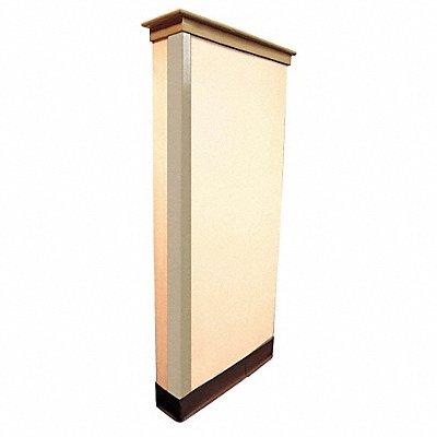 Corner Guard PVC Plastic 48 Height 1-1/2 Width 0.085 Thickness Beige