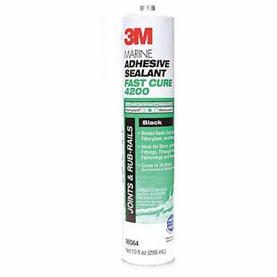Black Marine Adhesive Sealant Polyurethane 10.0 oz Cartridge Package Quantity 12