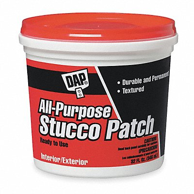 All-Purpose Stucco Patch 1 gal Size White Color Container Type Pail