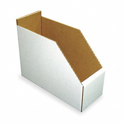 Corrugated Shelf Bin 200 lb Test Rating White 8-1/2 H x 11 L x 4-1/4 W 1EA  |  Box of 15