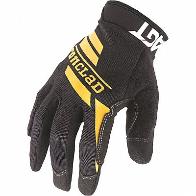 General Utility Mechanics Gloves Synthetic Leather Palm Material Black M PR 1