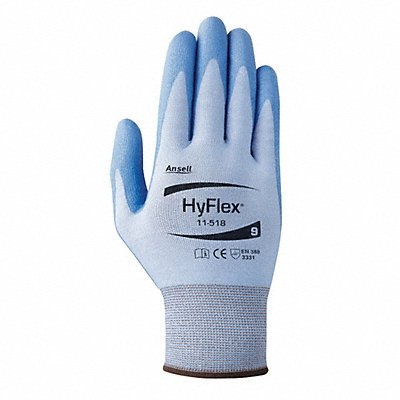 Polyurethane Cut Resistant Gloves ANSI/ISEA Cut Level 2 Dyneema? Diamond HPPE Lining Blue 7 PR