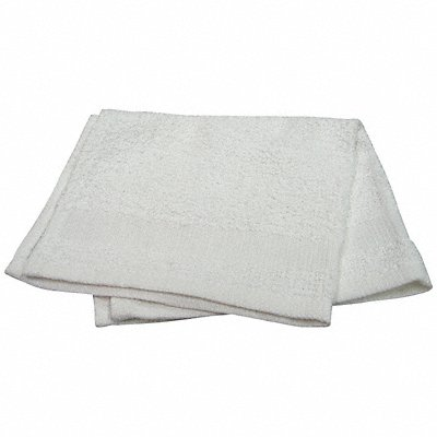 12 x 12 100 Cotton Wash Cloth White PK12