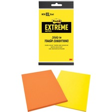 """Post-it XL Extreme Notes, 4.5x6.75"""", Assorted, MMMXT4562MX, Pack of 12"""
