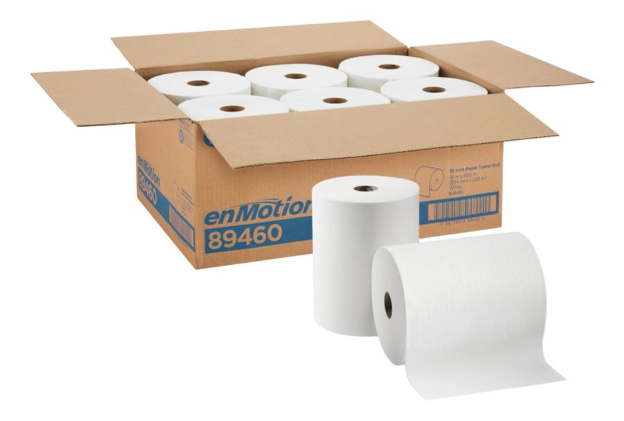 """enMotion by GP PRO Paper Towel Rolls, 10"""" x 800', White, Pack Of 6 Rolls"""