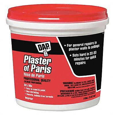 Plaster of Paris 8 lb Size White Color Container Type Pail
