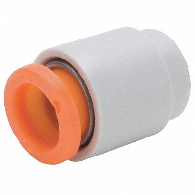 3/8 Plastic Tube Cap White/Gray