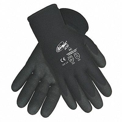 7 15 Gauge Flat PVC Coated Gloves Glove Size M Black