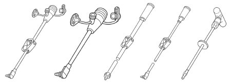 Bolus Extension Feeding Tube Set MIC-Key With Cath Tip, SECUR-LOK Straight Connector and Clamp
