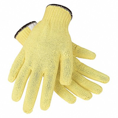 Uncoated Cut Resistant Gloves ANSI/ISEA Cut Level 2 Kevlar? Lining Yellow S PR 1