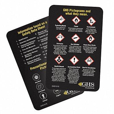 Wallet Card Chemical/HAZMAT Trng PK50