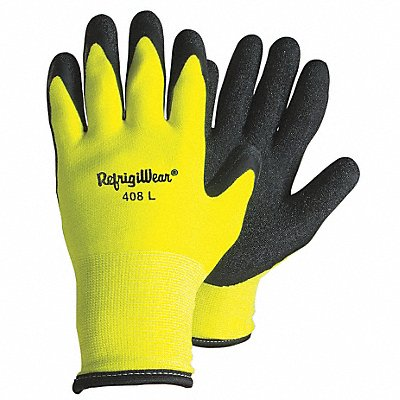 Cold Protection Gloves Terry Cloth Lining Slip-On Cuff Hi-Visibility Lime XL PR 1