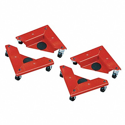 10-1/4 L x 10-1/4 W x 3-1/2 H Red Cabinet Dolly 1320 lb Load Capacity