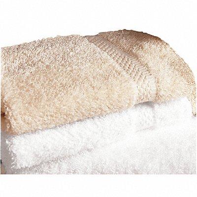13 x 13 Cotton Wash Towel White PK12