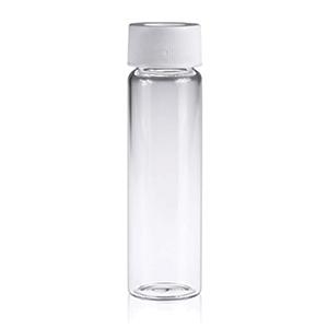 40mL Clear Glass Vial w/Screw Cap, White