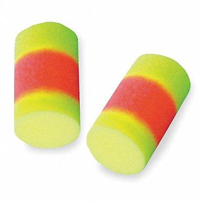 33dB Disposable Cylinder-Shape Earplugs Uncorded Orange Yellow L