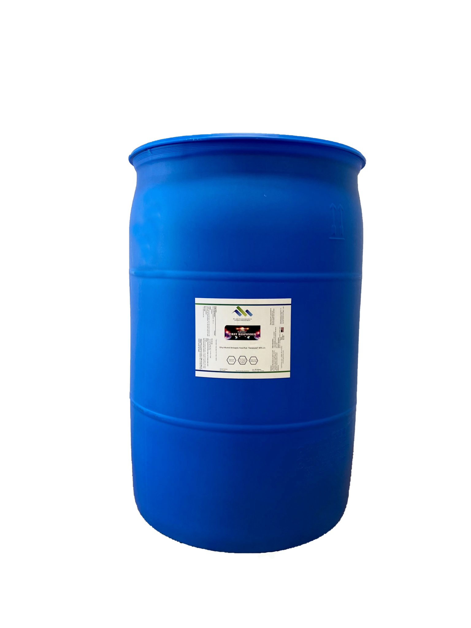 FDA Registered 55 Gallon Container(s) of Hydromer First Responder 80%v/v Liquid Hand Sanitizer(Unsc